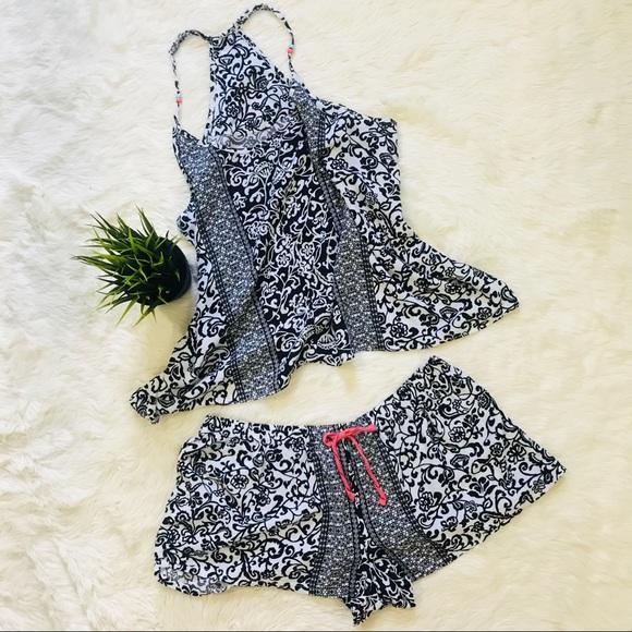 ea8f5b77cc Linea Donatella Pajama Shorts Set floral Printed